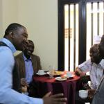 Ismael Fofana with AGRODEP members, Godwin Abu, Oscar Ayuya Ingasia, and Reuben Alabi