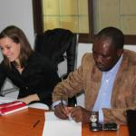 Instructor, Anne Claire Thomas and AGRODEP Member, Godwin Abu
