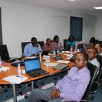 At the training course