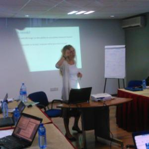 During the training course 4