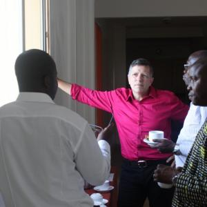 Discussion during coffee break